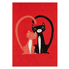 Buy Lagom Designs Love Cats Greeting Card Online at johnlewis.com