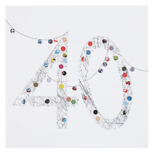 Buy Art Press 40th Birthday Card Online at johnlewis.com