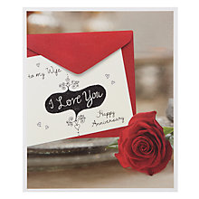 Buy Card Mix Love You Note Happy Anniversary Card Online at johnlewis.com