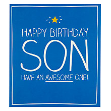 Buy Pigment Son Awesome One Birthday Card Online at johnlewis.com