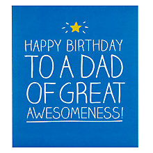 Buy Pigment Dad Awesome Birthday CArd Online at johnlewis.com