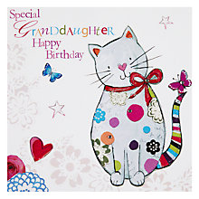 Buy Hammond Gower Cat Red Bow Granddaughter Birthday Card Online at johnlewis.com