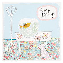 Buy Saffron Fish Bowl Birthday Card Online at johnlewis.com