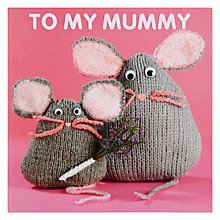 Buy Mint Mice Mummy Birthday Card Online at johnlewis.com