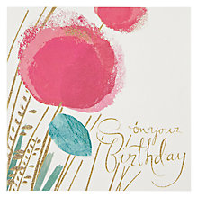 Buy Woodmansterne Flowers Flittering Birthday Card Online at johnlewis.com
