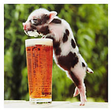 Buy Paperhouse Piglet's Pint Greeting Card Online at johnlewis.com