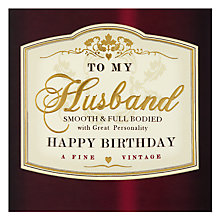Buy Hotchpotch Husband Birthday Card Online at johnlewis.com