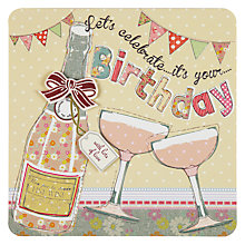 Buy Laura Darrington Let's Celebrate Birthday Card Online at johnlewis.com