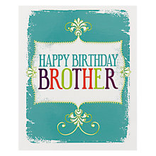 Buy Art File Brother Happy Birthday Card Online at johnlewis.com