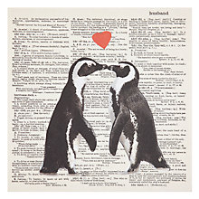 Buy Art Press Penguins with Hearts Husband Birthday Card Online at johnlewis.com