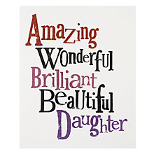 Buy Really Good Daughter Greeting Card Online at johnlewis.com