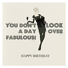 Buy Five Dollar Shake Fabulous Birthday Card Online at johnlewis.com