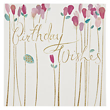 Buy Woodmansterne Purple Tall Flowers Birthday Card Online at johnlewis.com