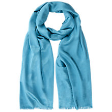 Buy Hobbs Flora Scarf, Kingfisher Blue Online at johnlewis.com