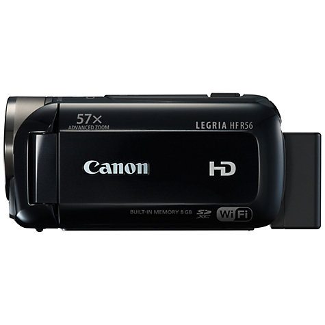 "Buy Canon LEGRIA HF R56 HD 1080p Camcorder, 3.28MP, 32x Optical Zoom, 8GB, Wi-Fi, 3"" Touch Screen Online at johnlewis.com"