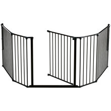 Buy BabyDan XL Fire Surround/Configure Gate, Black Online at johnlewis.com