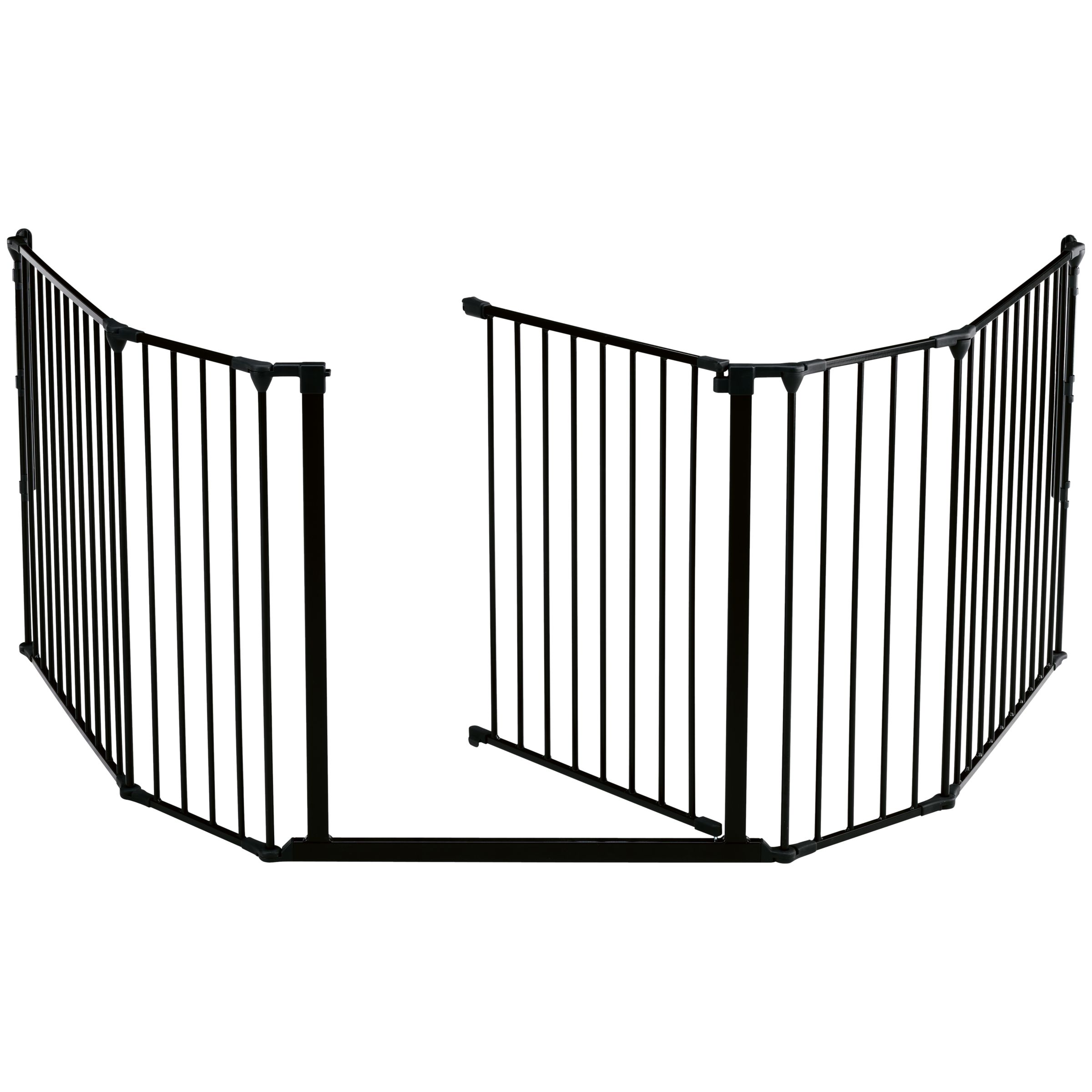 BabyDan BabyDan XL Fire Surround/Configure Gate, Black