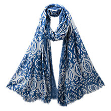 Buy East Ikat Scarf, Azure Online at johnlewis.com