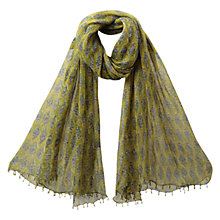 Buy East Anokhi Gracie Scarf, Kiwi Online at johnlewis.com