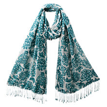 Buy East Rosina Print Scarf, Peacock Online at johnlewis.com