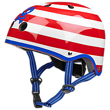 Buy Micro Scooters Stripe Pirate Safety Helmet, Medium, Red/White Online at johnlewis.com