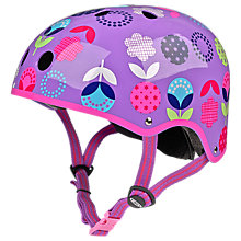 Buy Micro Scooters Floral Dot Helmet, Small Online at johnlewis.com