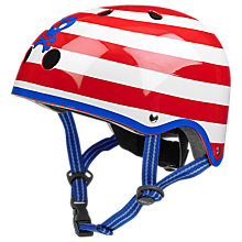 Buy Micro Scooters Stripe Pirate Helmet, Small/Medium, Red/White Online at johnlewis.com