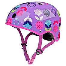 Buy Micro Scooters Floral Dot Helmet, Medium Online at johnlewis.com