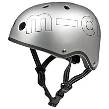 Buy Micro Scooters Safety Helmet, Metallic Silver, Medium Online at johnlewis.com