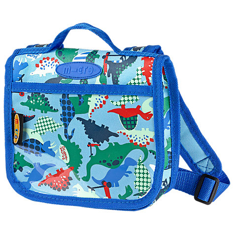 Buy Micro Scooters Scootersaurus Foldover Bag, Blue/Multi Online at johnlewis.com