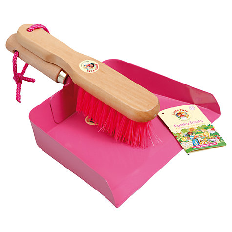 Buy Little Pals Dustpan and Brush, Pink Online at johnlewis.com