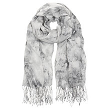Buy Mint Velvet Jasmine Print Scarf, Grey Online at johnlewis.com