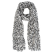 Buy Mint Velvet Alma Print Scarf, Grey Online at johnlewis.com