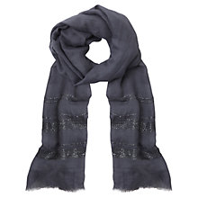 Buy Mint Velvet Stripe Sequin Detail Scarf, Indigo Online at johnlewis.com