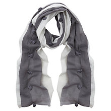 Buy Mint Velvet Tassle Scarf, Ivory Online at johnlewis.com