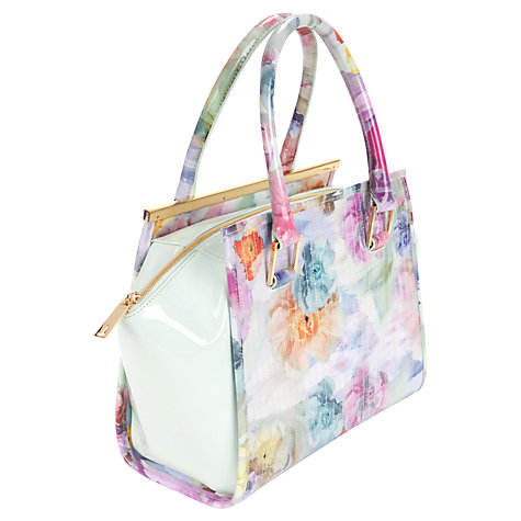 Buy Ted Baker Kerie Floral Tote, Pale Green Online at johnlewis.com
