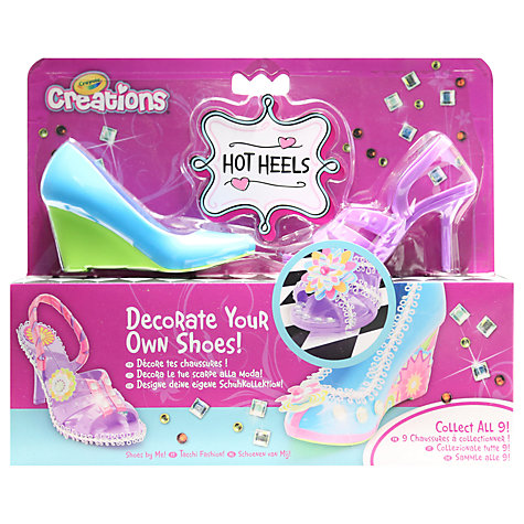 Buy Crayola Creations Hot Heels Fashion Design Kit, Pack of 2 Online at johnlewis.com
