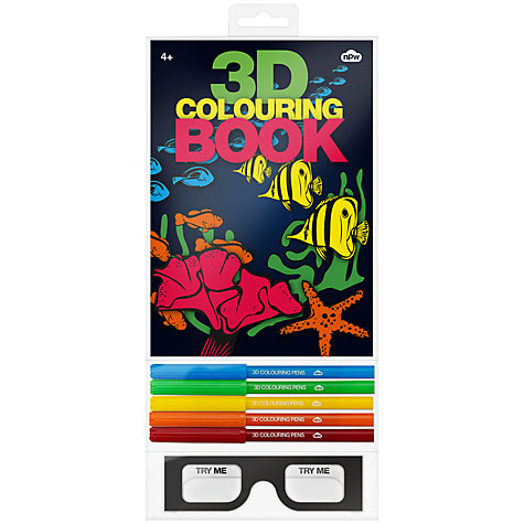 Buy 3D Colouring Book Online at johnlewis.com
