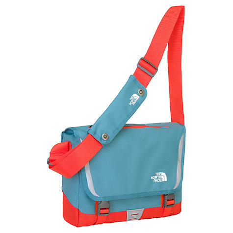 Buy The North Face Base Camp Small Messenger Bag, Storm Blue/Fire Brick Red Online at johnlewis.com