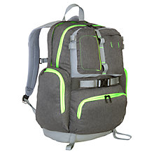 "Buy The North Face Trappist 17"" Laptop Backpack, Grey/Green Online at johnlewis.com"