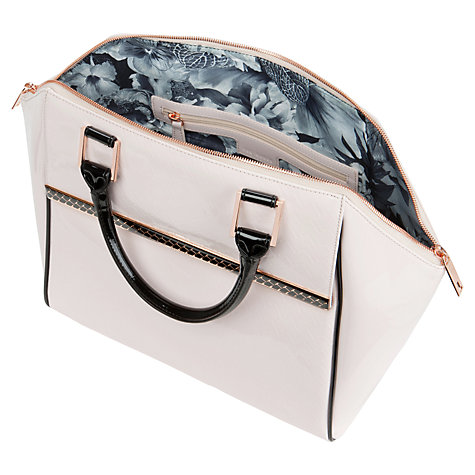 Buy Ted Baker Challan Tote Bag, Nude Pink Online at johnlewis.com