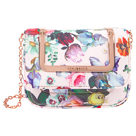 Buy Ted Baker Fluze Clutch Bag, Nude Pink Online at johnlewis.com