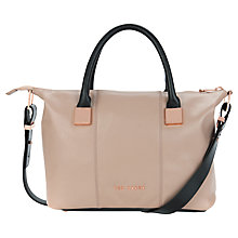 Buy Ted Baker Frimlor Metal Leather Tote Bag Online at johnlewis.com