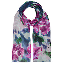 Buy Hobbs Floral Blush Scarf, Violet Pink Online at johnlewis.com