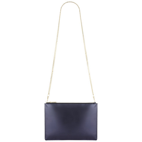 Buy Whistles Rivington Clutch Handbag, Navy Online at johnlewis.com
