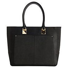 Buy Warehouse Two Tone Shopper Bag, Black Online at johnlewis.com