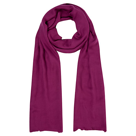Buy Hobbs Hattie Scarf, Violet Pink Online at johnlewis.com