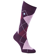 Buy Barbour Durham Argyle Socks, One Size, Purple Online at johnlewis.com
