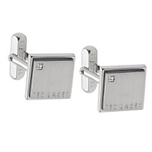 Buy Ted Corner Crystal Cufflinks, Silver Online at johnlewis.com