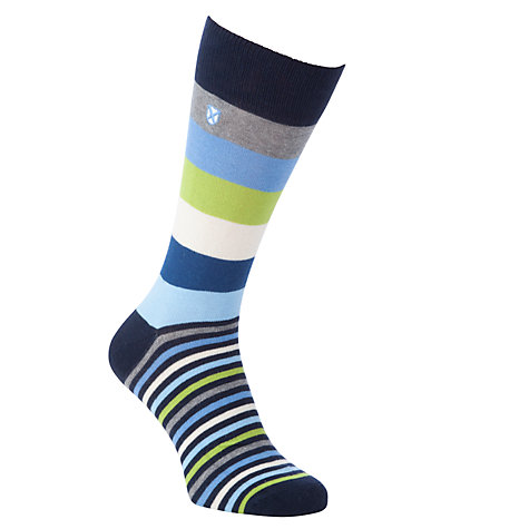 Buy Barbour Heywood Multi Pattern Socks, One Size, Blue/Multi Online at johnlewis.com